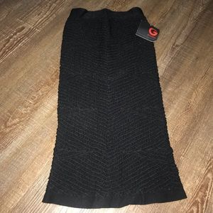 G by guess black spandex mini/pencil skirt